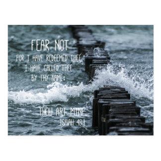 Fear Not Bible Verse Postcard