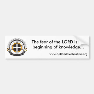 Fear of the Lord bumper sticker
