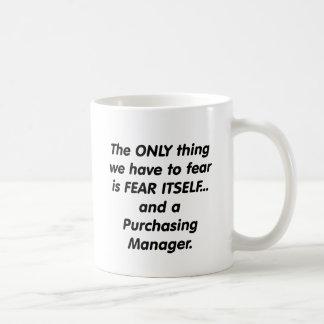 fear purchasing manager basic white mug