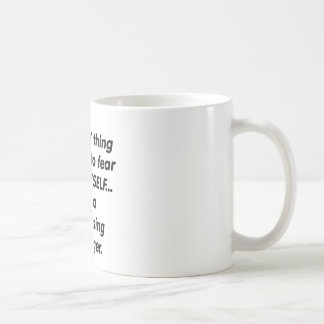fear purchasing manager classic white coffee mug