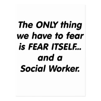 Fear Social Worker Post Cards