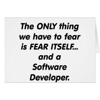 fear softwar developer greeting card