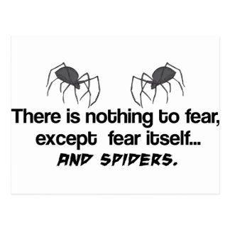 Fear Spiders Postcard