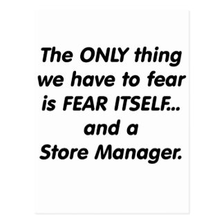 Fear Store Manager Postcard