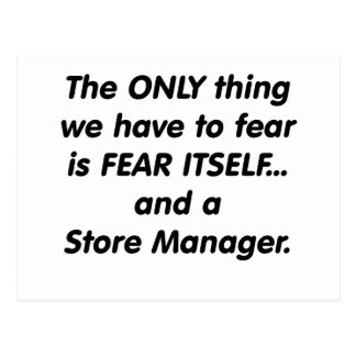 Fear Store Manager Post Card