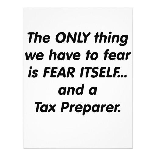 Fear Tax Preparer Full Color Flyer