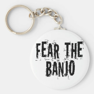 Fear The Banjo Basic Round Button Key Ring