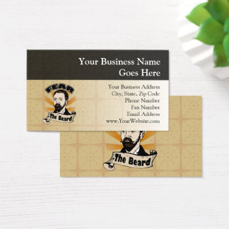 Fear the Beard, Funny Mustache Business Card