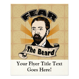 Fear the Beard, Funny Mustache Flyer