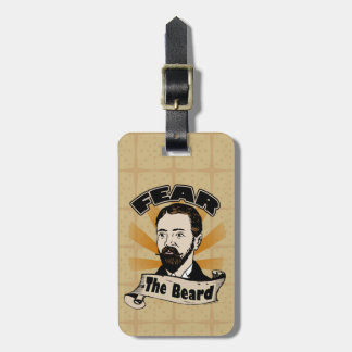 Fear the Beard, Funny Mustache Luggage Tag