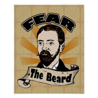 Fear the Beard, Funny Mustache Poster