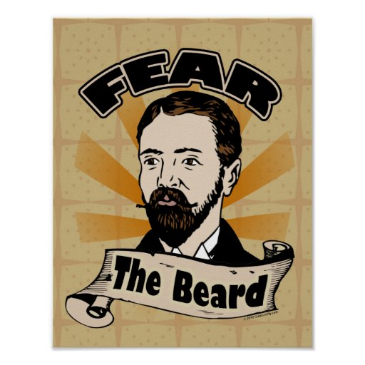 Fear the Beard, Funny Mustache Print