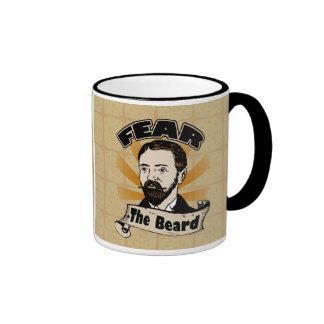 Fear the Beard, Funny Mustache Ringer Mug