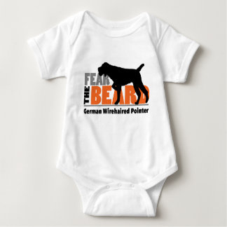 Fear the Beard - German Wirehaired Pointer Baby Bodysuit
