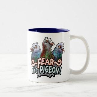 Fear the Pigeon by Mudge Studios Coffee Mug