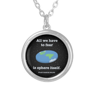 Fear the Sphere Silver Plated Necklace