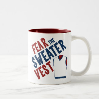 Fear the Sweater Vest Two-Tone Coffee Mug