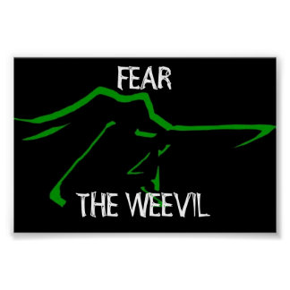 fear the weevil poster