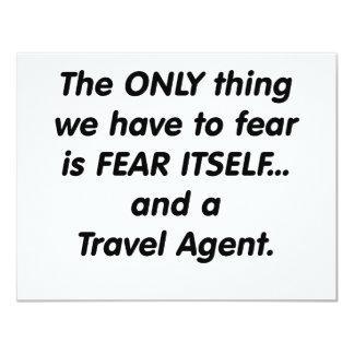 fear travel agent 11 cm x 14 cm invitation card