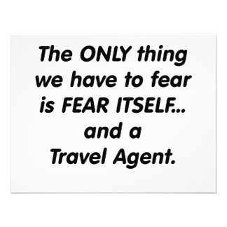 fear travel agent personalized announcement