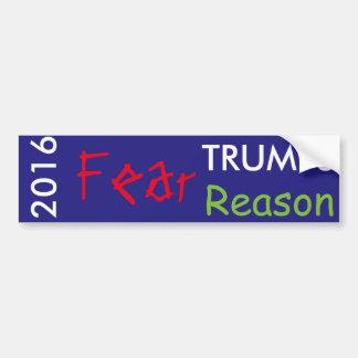 Fear Trumps Reason in 2016 Bumper Sticker