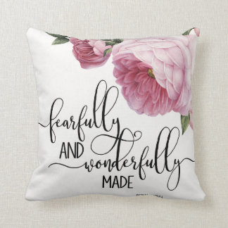 Fearfully and Wonderfully Made Cotton Pillow