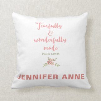 Fearfully and Wonderfully Made Nursery Pillow