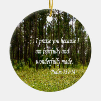 Fearfully and Wonderfully Made Round Ceramic Decoration
