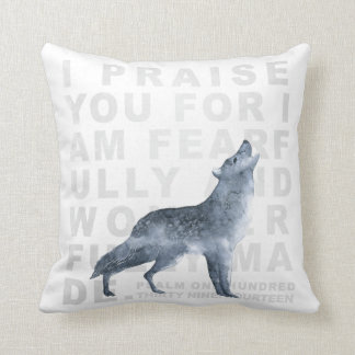 Fearfully and Wonderfully Made Verse Wolf Pillow