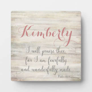 Fearfully & Wonderfully Made - Ps. 139:14 Display Plaque