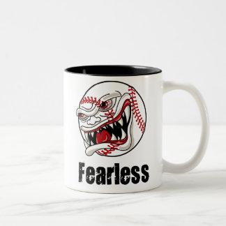 Fearless Baseball Two-Tone Coffee Mug