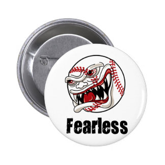 Fearless Baseball Pinback Button
