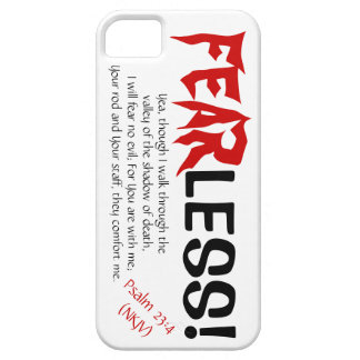 FEARLESS! Cell Phone Cover, w/Scripture iPhone 5 Cases