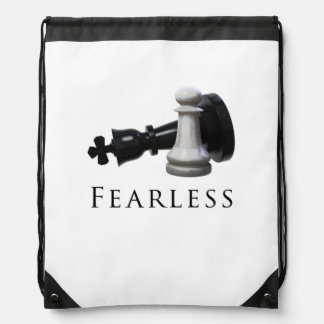 Fearless Chess Drawstring Bag