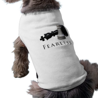 Fearless Chess Sleeveless Dog Shirt