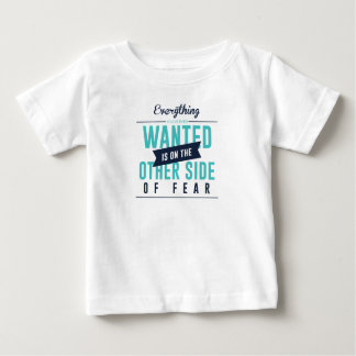 Fearless Courage Action Inspirational Design Baby T-Shirt