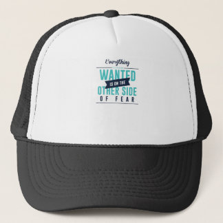 Fearless Courage Action Inspirational Design Trucker Hat
