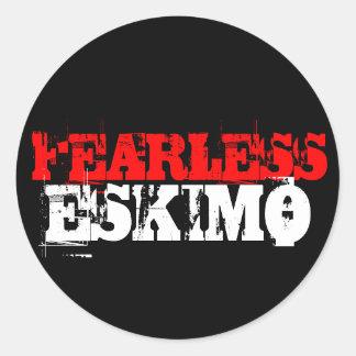FEARLESS, ESKIMO ROUND STICKER
