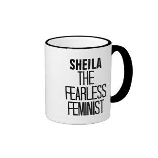 Fearless Feminist Ringer Coffee Mug
