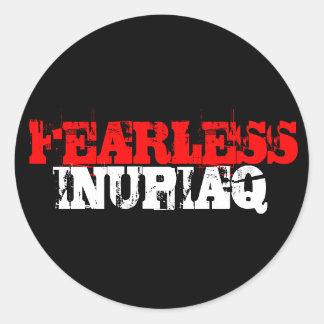 FEARLESS, INUPIAQ ROUND STICKER