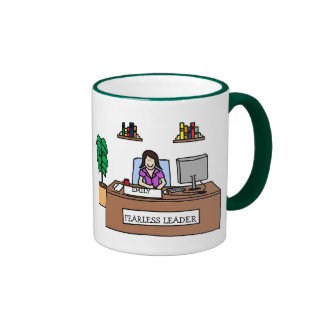 Fearless Leader - Personalized cartoon mug