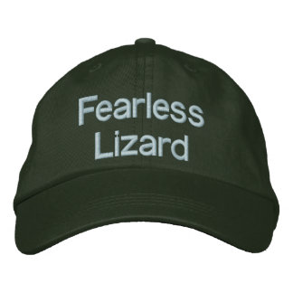 Fearless Lizard Adjustable Hat Embroidered Cap