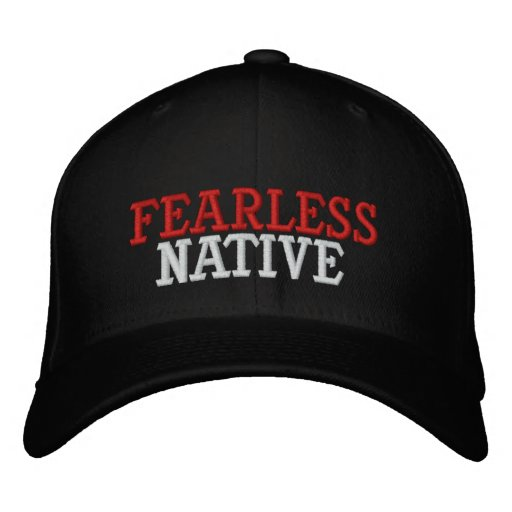 FEARLESS NATIVE EMBROIDERED BASEBALL CAPS