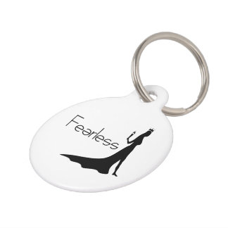 Fearless Pet Name Tag