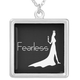 Fearless Silver Plated Necklace