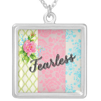Fearless vintage pastel prints necklace