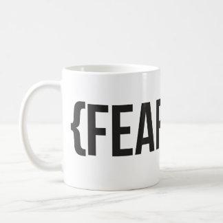 Fearless - You Choose Background Color Basic White Mug