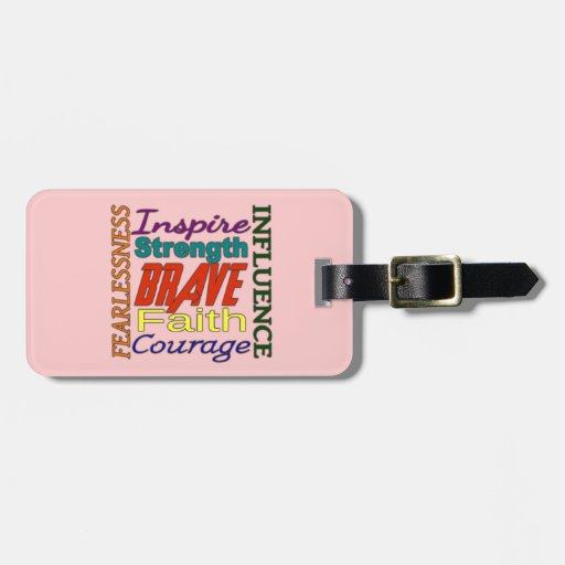 Fearlessness Courage Faith Etc...Word Picture Travel Bag Tag