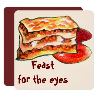 feast for the eyes- delight for the senses card