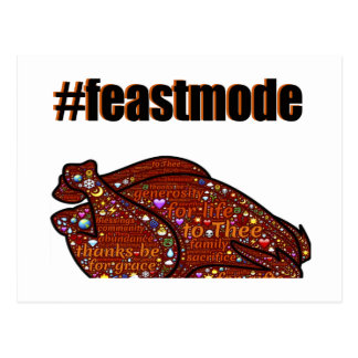 Feast Mode Thanksgiving Holiday Graphic Postcard